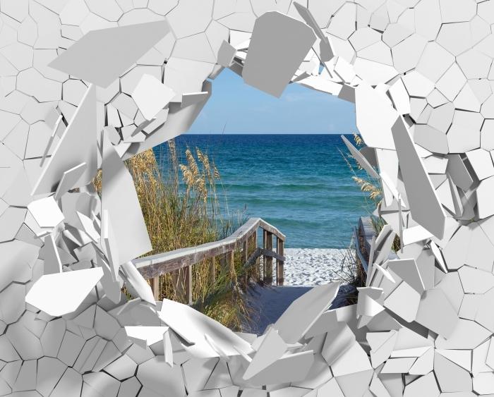 Papier peint vinyle Trou dans le mur - Dunes - Les trous dans le mur