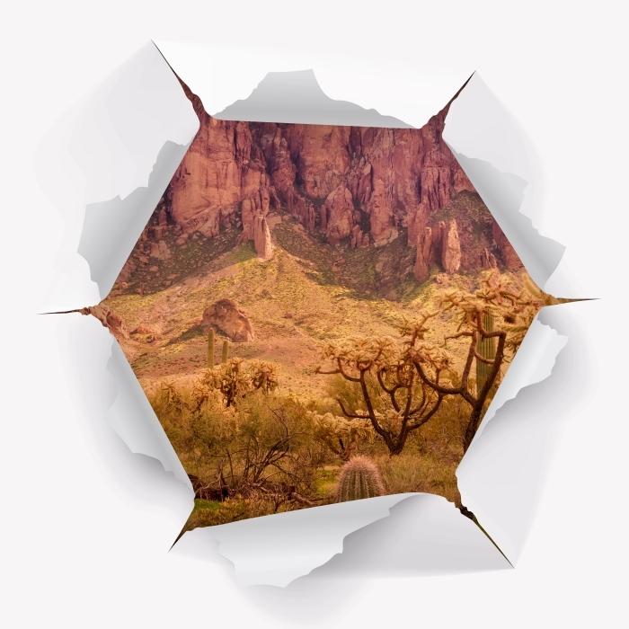 Fotomural Estándar Agujero en la pared - Arizona - Agujeros en la pared