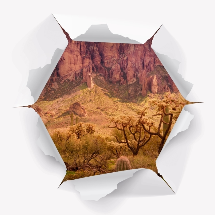 Hole in the wall - Arizona Vinyl Wall Mural - Holes in the wall