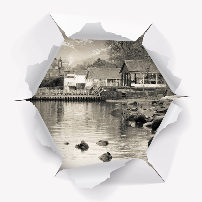 Vinyl Fotobehang Gat in de muur - Lake District - Gaten in de muur