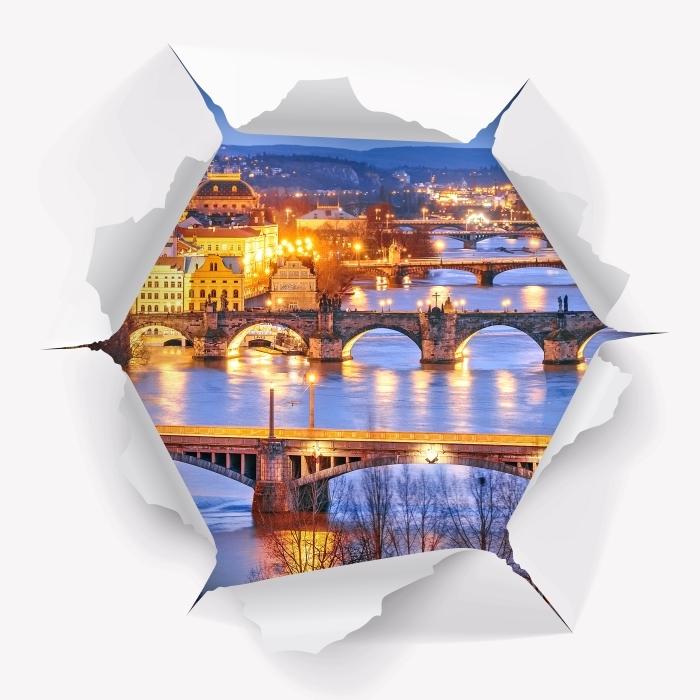 Papier peint vinyle Trou dans le mur - Prague - Les trous dans le mur
