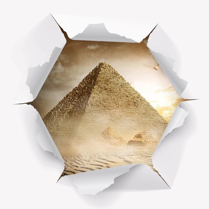 Vinyl-Fototapete Loch in der Wand - Desert - Durchbruch in der Wand
