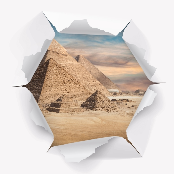 Hole in the wall - Egypt Vinyl Wall Mural - Holes in the wall