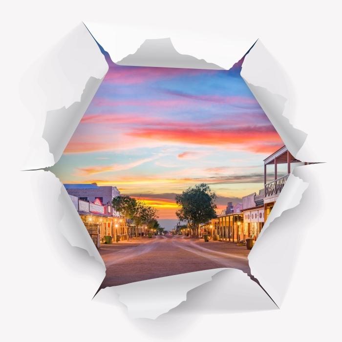 Fototapeta winylowa Dziura w ścianie - Arizona - Dziury w ścianie