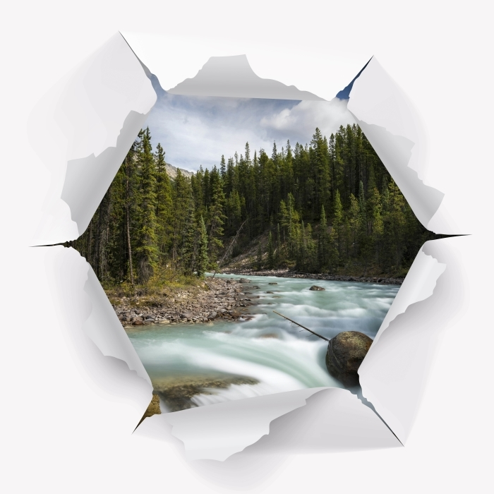 Vinyl-Fototapete Loch in der Wand - Kanada - Durchbruch in der Wand