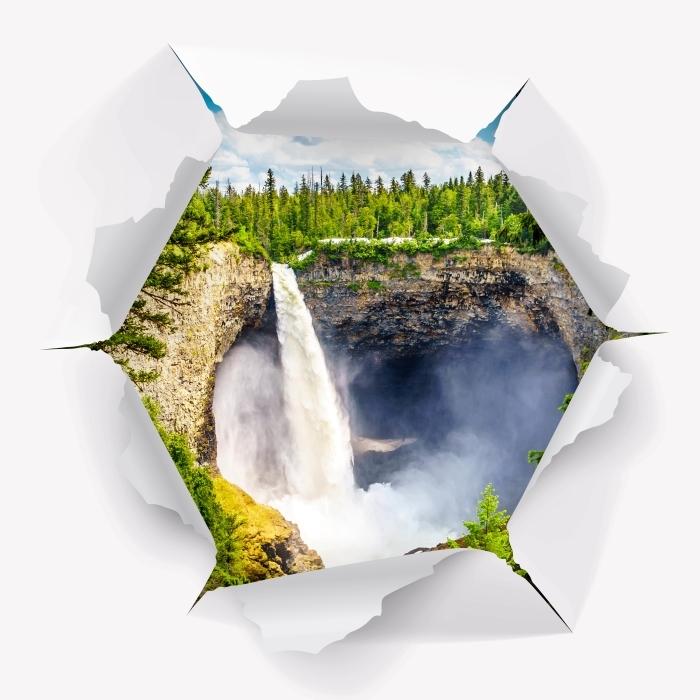 Vinyl Fotobehang Gat in de muur - bergen. Canada. - Gaten in de muur