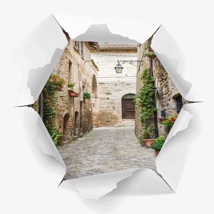 Vinyl-Fototapete Loch in der Wand - Italien - Durchbruch in der Wand