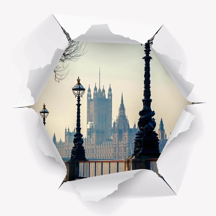 Papier peint vinyle Trou dans le mur - Big Ben. Londres. - Les trous dans le mur