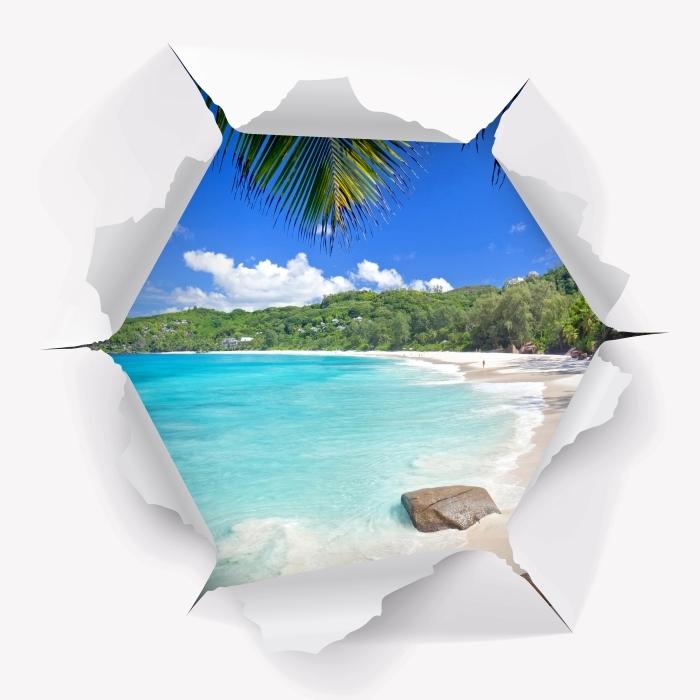 Vinylová fototapeta Otvor ve zdi - Tropical - Vinylová fototapeta