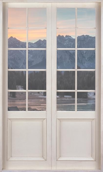Papier peint vinyle Porte Blanche - Bavière - La vue à travers la porte