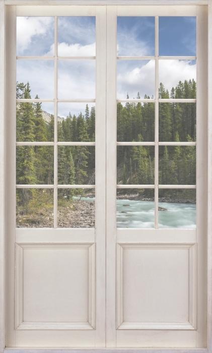 Vinyl-Fototapete Weiße Tür - Kanada - Blick durch die Tür