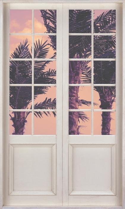 Vinyl-Fototapete Weiße Tür - Palma - Blick durch die Tür