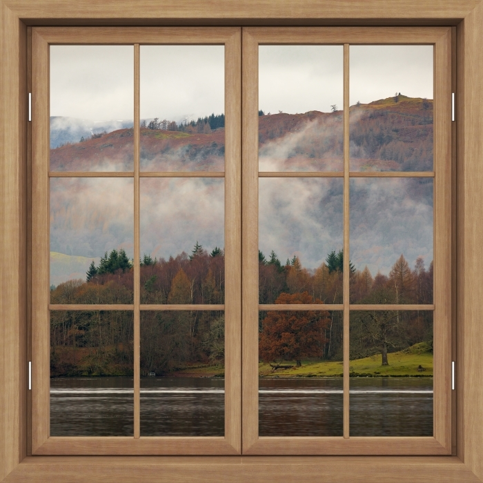Papier peint vinyle Fenêtre Brown Fermé - Lake District - La vue à travers la fenêtre