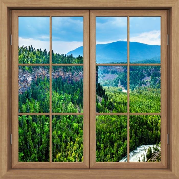 Papier peint vinyle Fenêtre Fermée Brown - Colombie. - La vue à travers la fenêtre