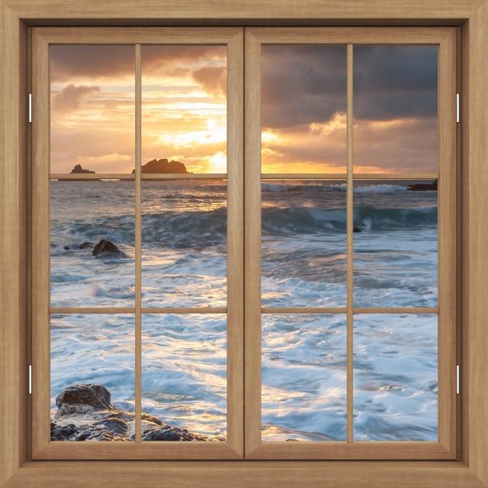 Fototapeta winylowa Okno brązowe zamknięte - Wielka Brytania - Widok przez okno