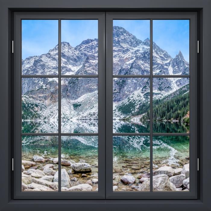 Papier peint vinyle Fenêtre Noire Fermée - Sea Eye - La vue à travers la fenêtre