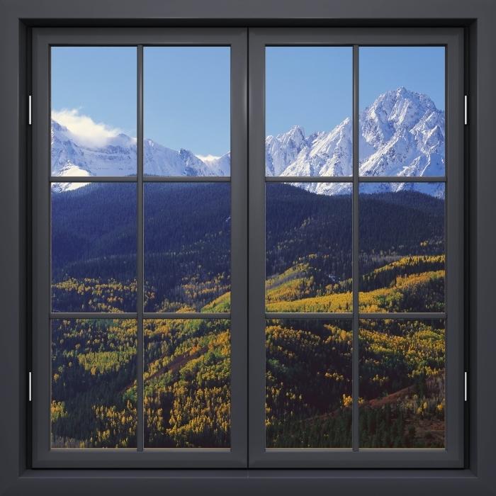 Papier peint vinyle Fenêtre Noire Fermée - Wilson Peak. Colorado. - La vue à travers la fenêtre