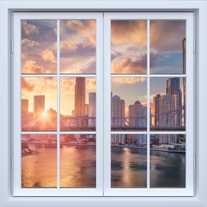 Papier peint vinyle Blanc fenêtre fermée - Brisbane. - La vue à travers la fenêtre