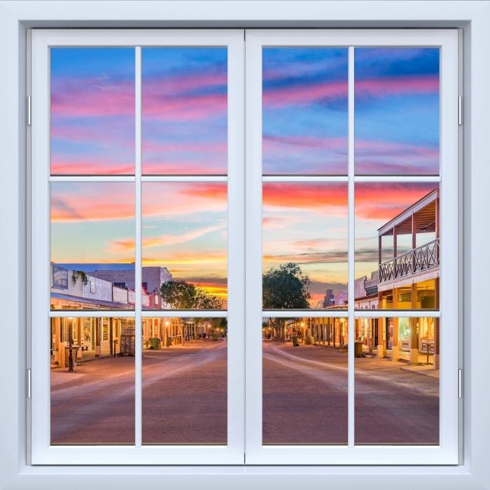 Fototapeta winylowa Okno białe zamknięte - Arizona - Widok przez okno
