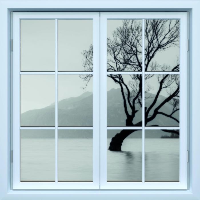 Fototapeta winylowa Okno białe zamknięte - Krajobraz. Nowa Zelandia - Widok przez okno