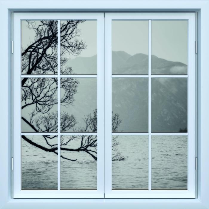 Papier peint vinyle Blanc fenêtre fermée - Paysage. nouvelle-Zélande - La vue à travers la fenêtre