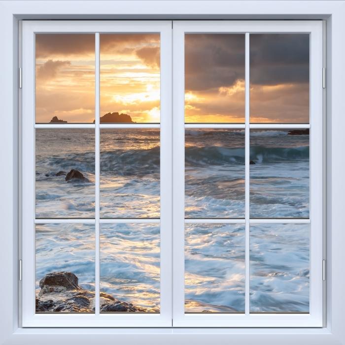 Vinyl-Fototapete Weiß geschlossen Fenster - Vereinigtes Königreich - Blick durch das Fenster