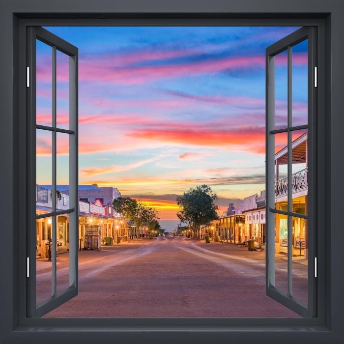 Fototapeta winylowa Okno czarne otwarte - Arizona - Widok przez okno