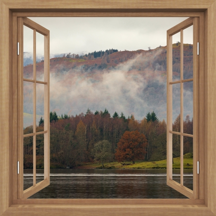 Fototapeta winylowa Okno brązowe otwarte - Lake District - Imitacje