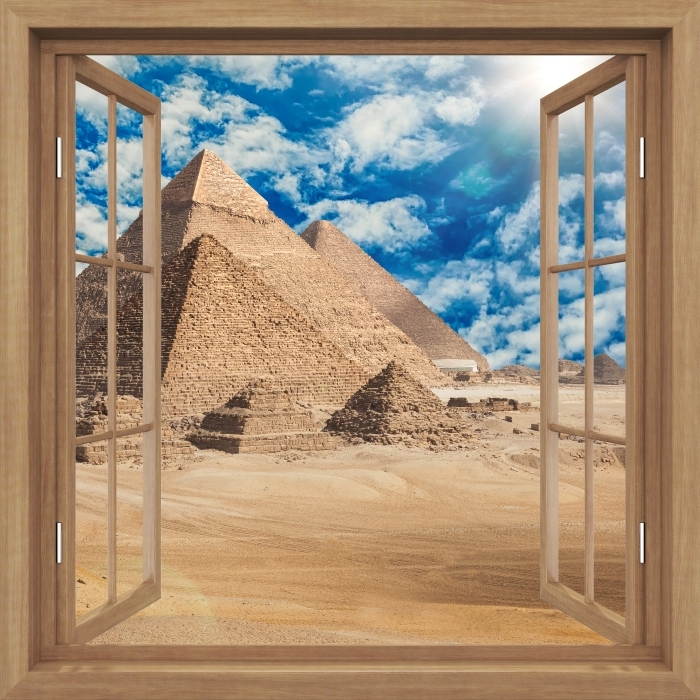 Plakat Okno brązowe otwarte - Egipt -