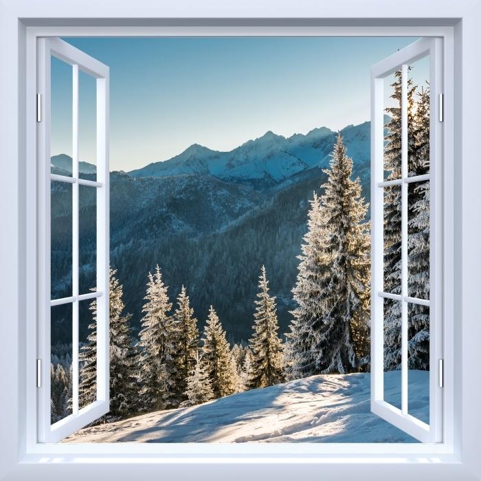 Papier peint vinyle Fenêtre ouverte blanche - Tatry -