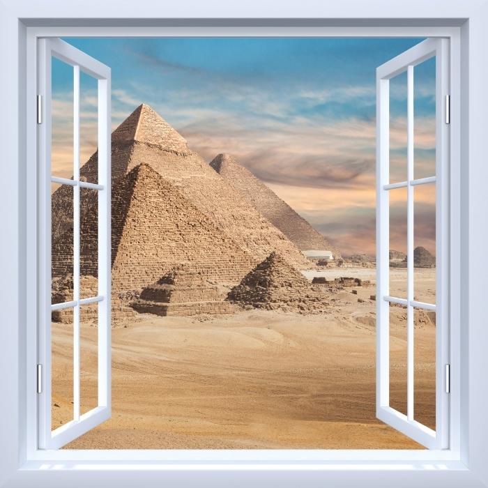 Vinyl-Fototapete Weiß offenes Fenster - Ägypten - Blick durch das Fenster