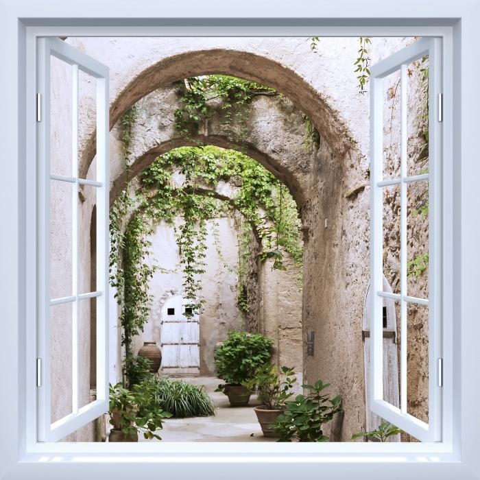 Fototapeta winylowa Okno białe otwarte - Arkada - Widok przez okno
