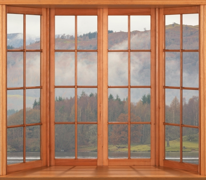 Terrace - Lake District Vinyl Wall Mural - View through the window