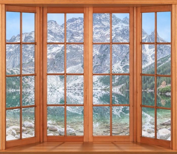 Fototapeta winylowa Taras - Morskie Oko - Widok przez okno