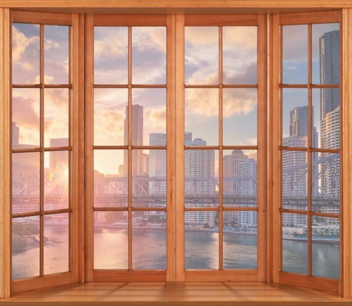 Papier peint vinyle Terrasse - Brisbane. - La vue à travers la fenêtre