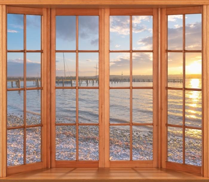 Papier peint vinyle Terrasse - Mara - La vue à travers la fenêtre