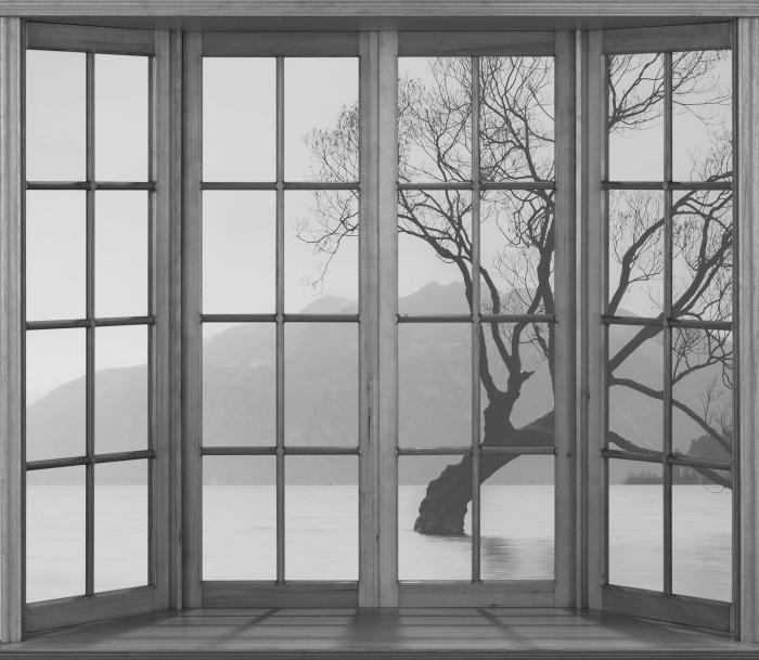 Fototapeta winylowa Taras - Krajobraz. Nowa Zelandia - Widok przez okno