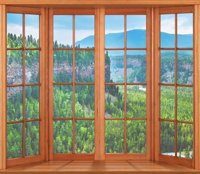 Fototapeta winylowa Taras - Kolumbia. - Widok przez okno