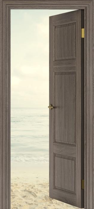 Pixerstick Aufkleber Brown Tür - Strand im Sommer -