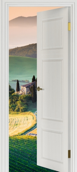 Fototapeta winylowa Białe drzwi - Toskania -