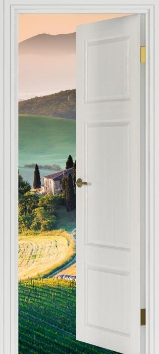 Sticker Pixerstick Porte Blanche - Toscane -