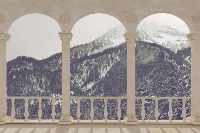 Papier peint vinyle Terrasse - Nuages -