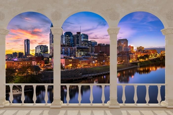Carta da Parati in Vinile Terrazza - Nashville Skyline -