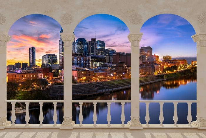 Papier peint vinyle Terrasse - Nashville Skyline -