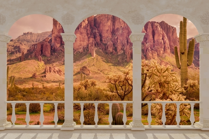 Papier peint vinyle Terrasse - Arizona -