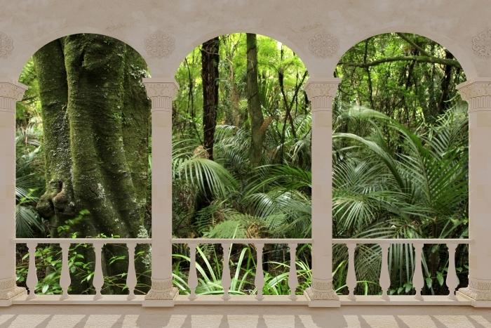 Papier peint vinyle Terrasse - Forêt tropicale -