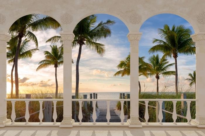 Papier peint vinyle Terrasse - Panorama -
