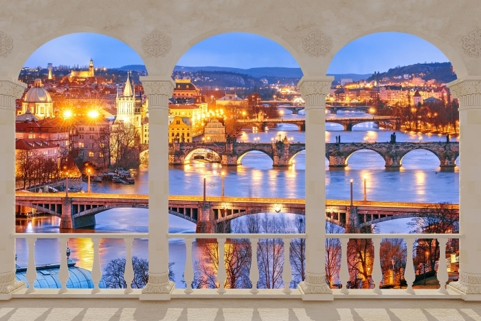Papier peint vinyle Terrasse - Prague -