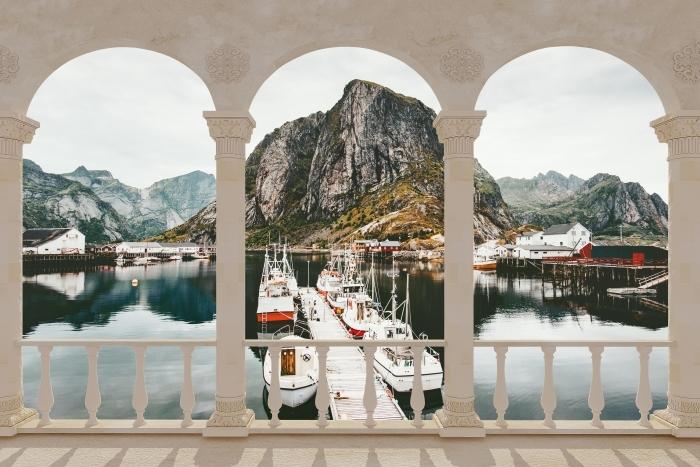 Terrace - Landscape. Norway Vinyl Wall Mural - Terraces