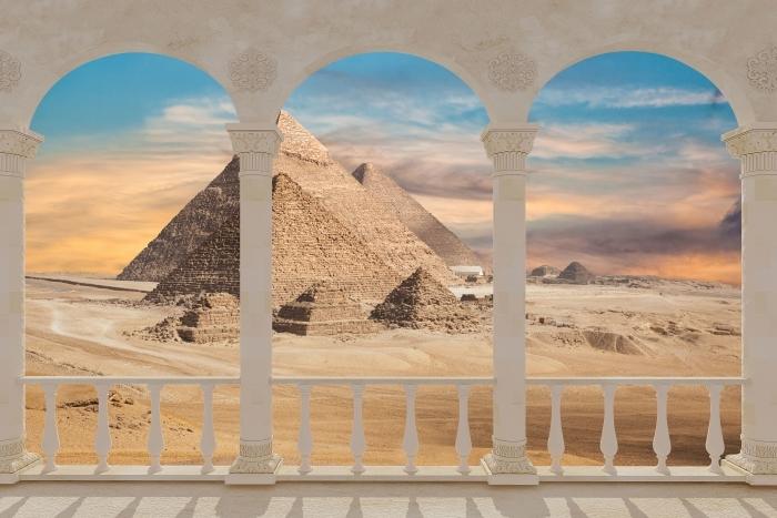 Papier peint vinyle Terrasse - Egypte -